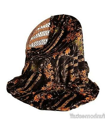 black camo camouflage woods luxury twin soft