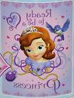 "Blanket Throw Fleece 46""x60"" Disney Jr Sofia The First Ready"