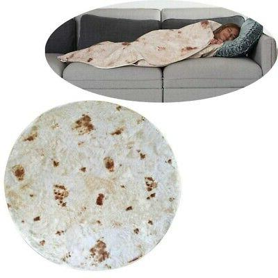"Burrito Texture Fleece Blanket 49""/59"""