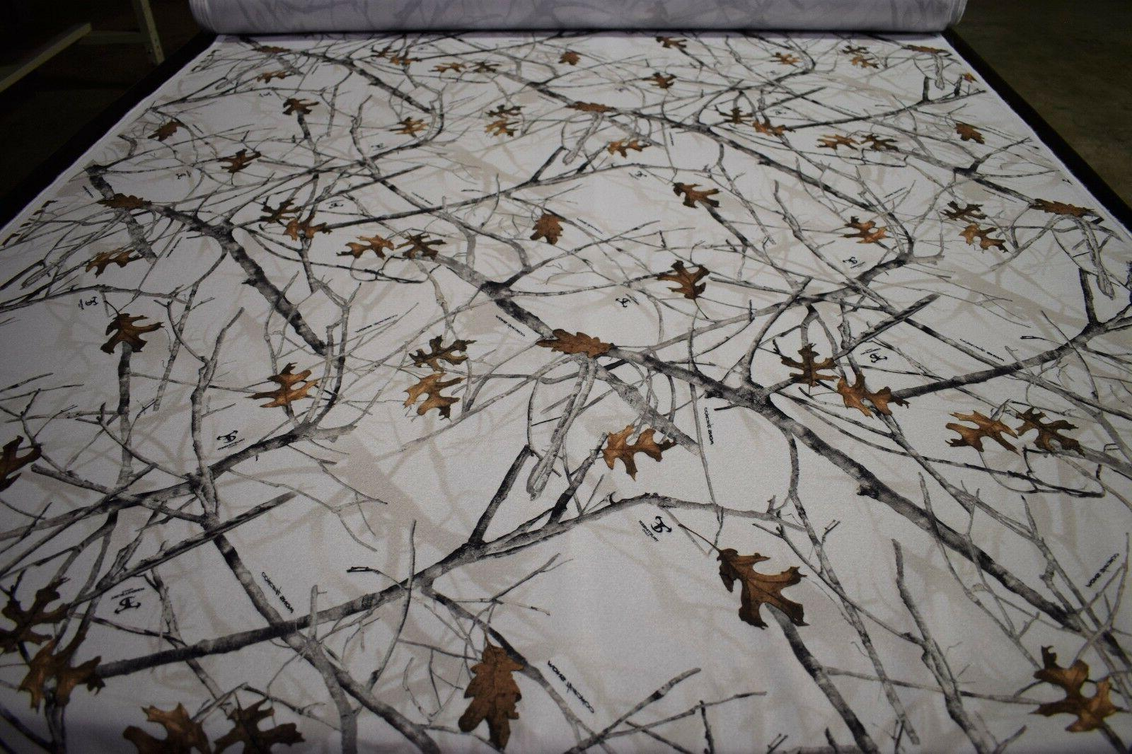 Camo Fleece Fabric Snow