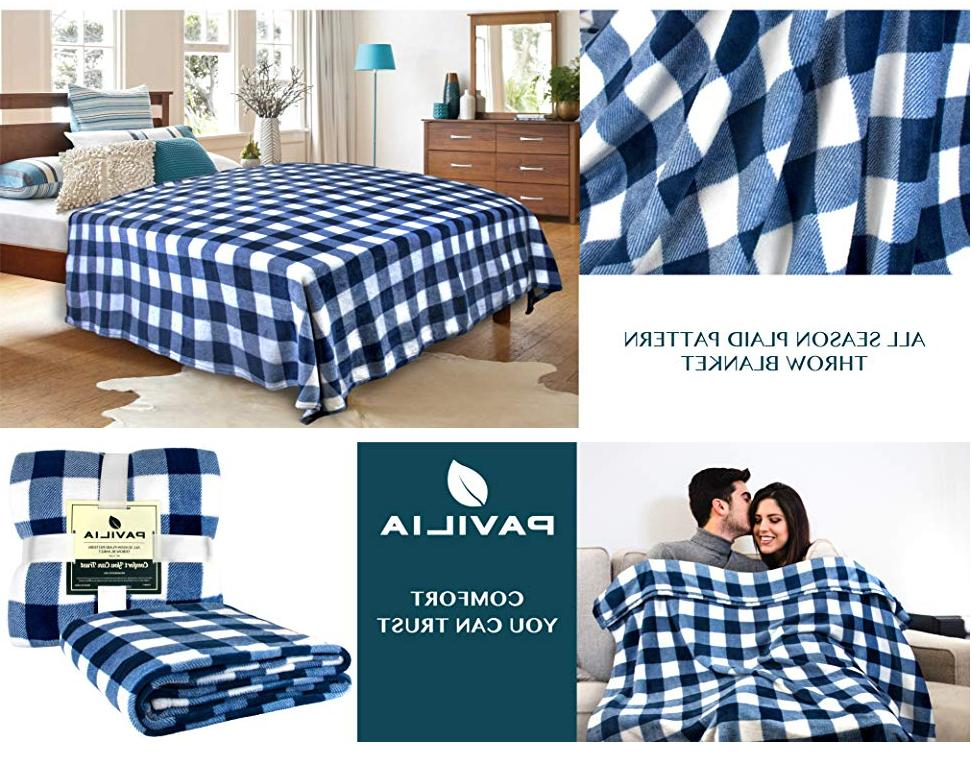 Christmas Blanket Microfiber Plaid Sherpa for Couch Bed