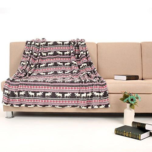 COSMOZ Elk Sunflower Pattern Lightweight Blanket 60""