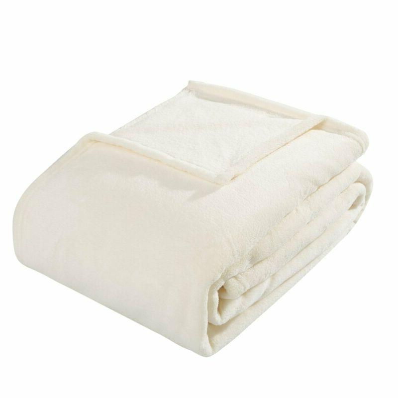 coral fleece twin size plush bed blanket