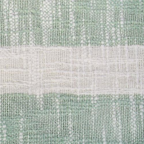 DII Rustic Stripe Blanket Fringe For Picnic, Beach, & Everyday 50 x - Mint