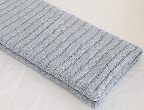 cotton knitted cable throw soft