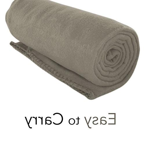 cozy fleece throw blanket gray