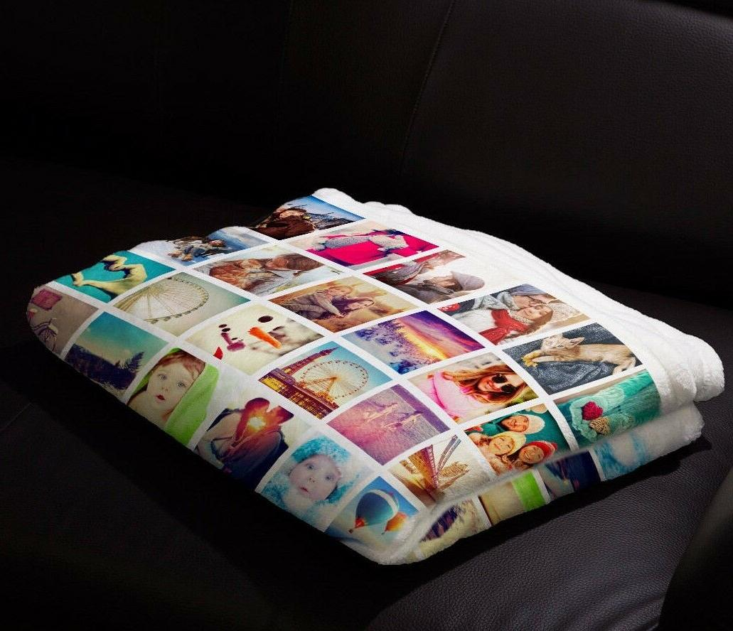 custom baby blanket photo plush fleece personalized