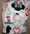 DISNEY MINNIE MOUSE super soft fleece BABY BLANKET! REVERSIB