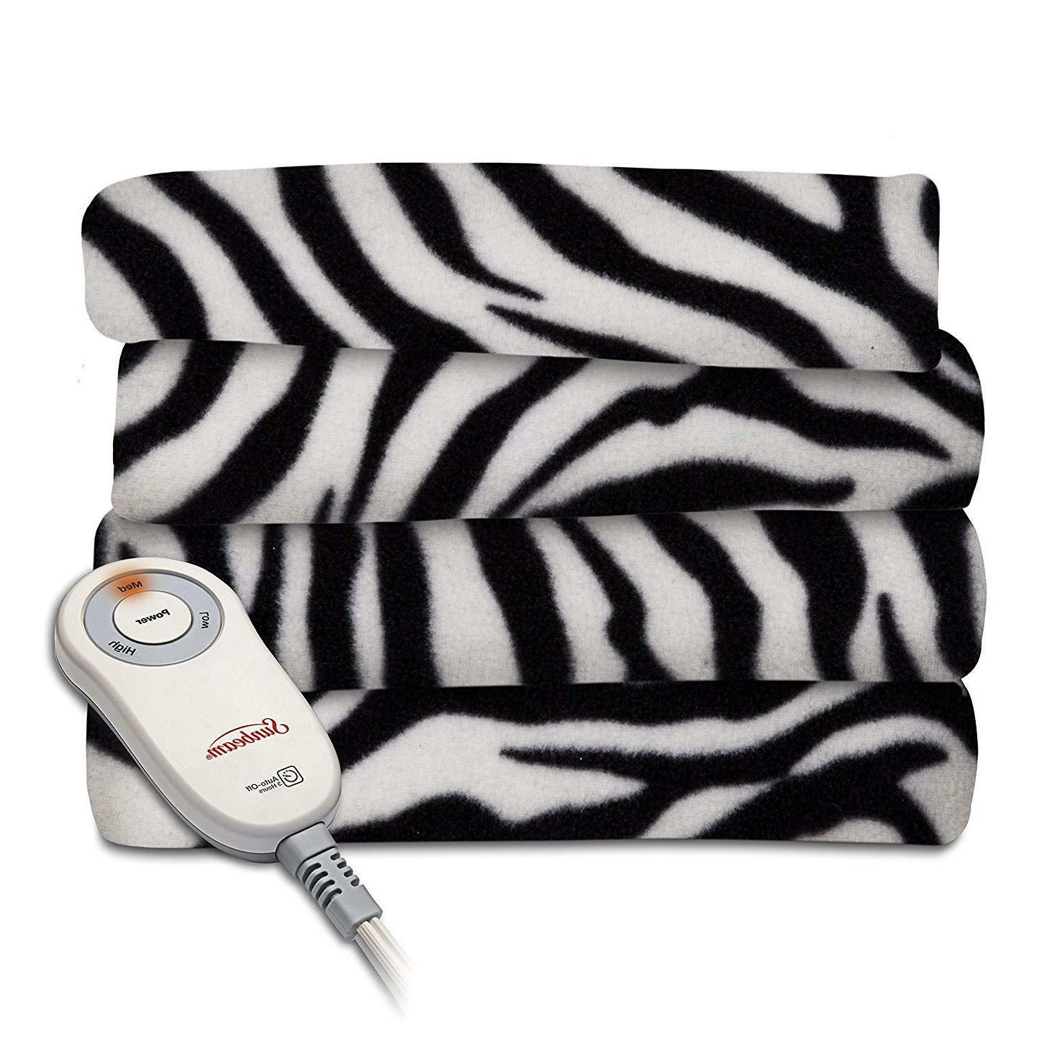 Electric Heated Fleece Blanket Quilted Throw Blankets Throws