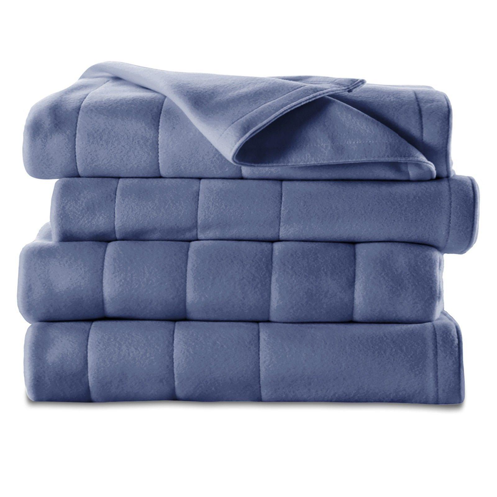 Electric Heated Channeled Warming Blanket Twin Full Queen