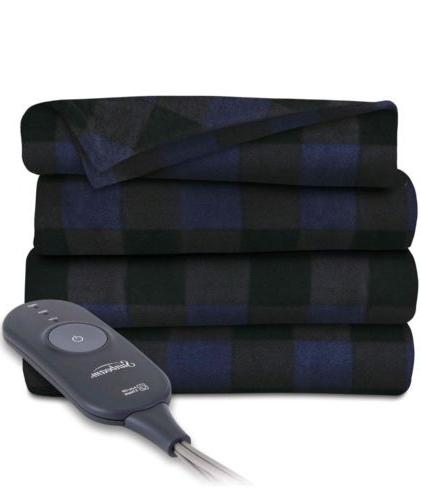 electric heated fleece throw blanket soft fleece