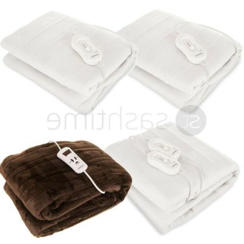 electric heated polyester under blanket fleece over