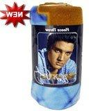 Elvis Presley Blue Shirt Cover Fleece Blanket Throw