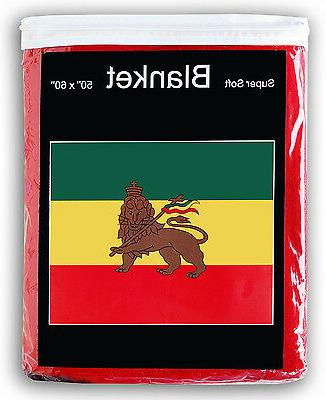 ethiopian flag fleece blanket new 5 ft