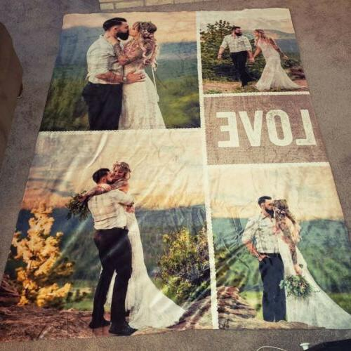 fast delivery custom photo blanket personalized family