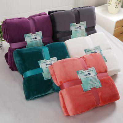 HYSEAS Flannel Bed Blanket Cozy Fuzzy for All