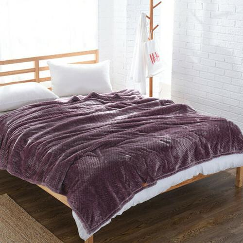 flannel fleece blanket full queen king size