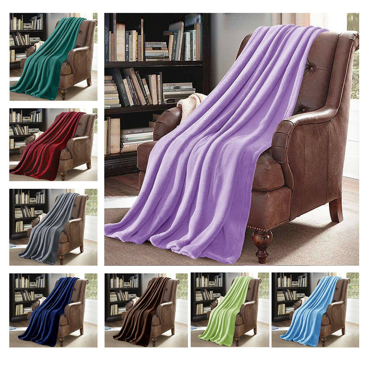 Throw Blanket Soft Lightweight Cozy Fleece For Sofa Couch 50