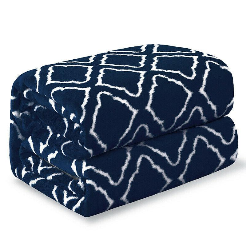 Bedsure Fleece Printed for Bed Couch