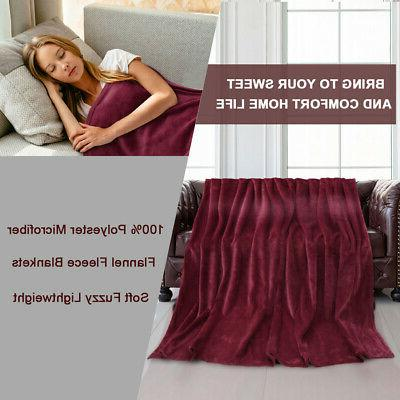 Flannel Microfiber for Bed Sofa Throw Queen