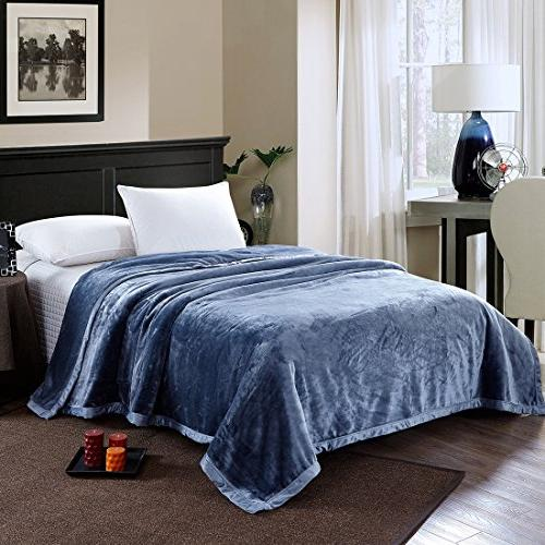 Flannel Thick Blanket King Fuzzy Microfiber All Seasons,90 108