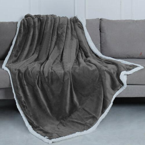 Flannel Blanket Twin Queen Throw Thickened Soft Sofa Bed Rug