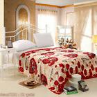 Flannel Polar-Fleece Sleep Blanket Plush Polyester Fiber Sof