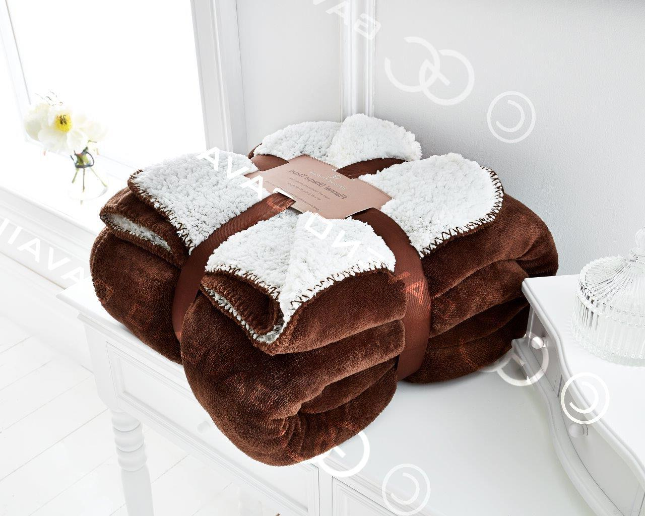 Flannel Sherpa Blanket Bed Large Soft Luxury