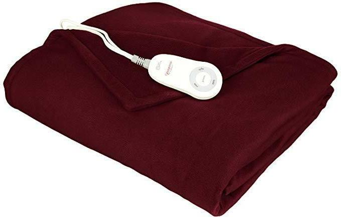 Fleece Blanket Electric Heated Throw Super Electric