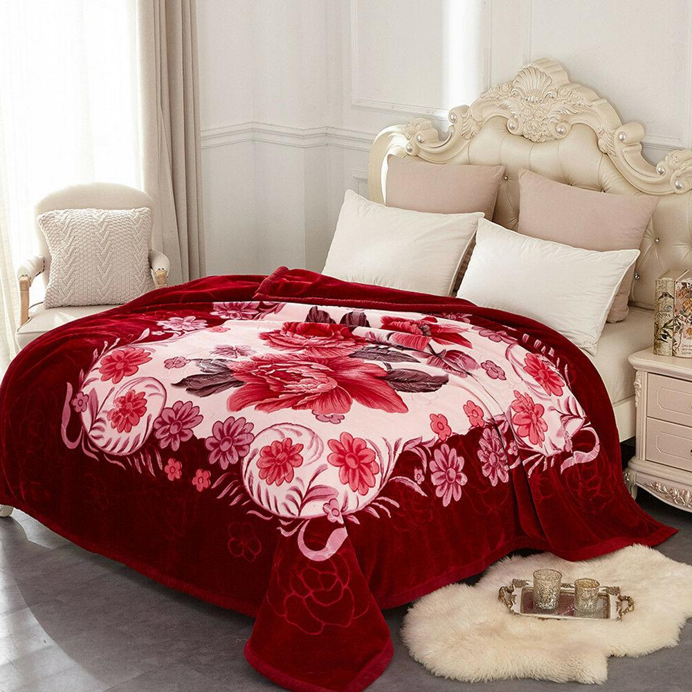 Heavy Blanket Soft Thick 2 Ply Printed Bed King/Queen