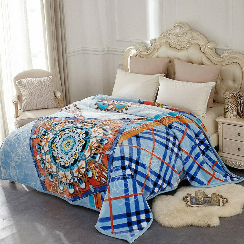 Heavy Mink Blanket Soft Ply Printed Bed King/Queen