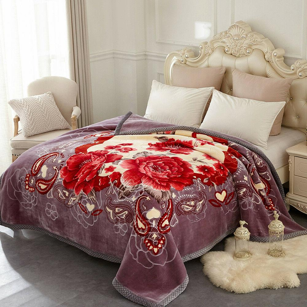 Heavy Mink Soft Thick Warm Ply Printed King/Queen
