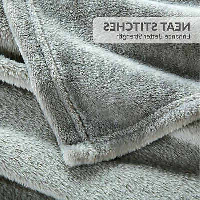 Bedsure Fleece Queen Size Grey Lightweight