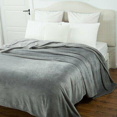 Bedsure Size Grey Lightweight Super Soft Cozy