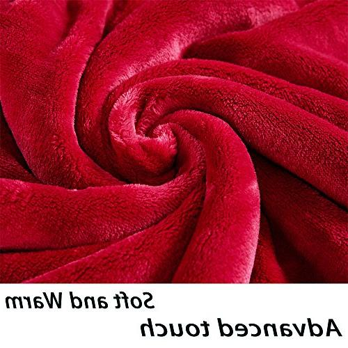 Sonoro Fleece Blanket Soft Warm King Lightweight Cozy Bed Couch Blanket,Easy Care,Burgundy
