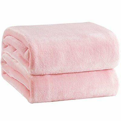 fleece blanket throw size pink lightweight throw
