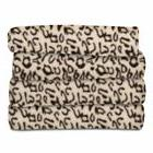 Sunbeam Fleece Heated Throw Blanket Cheetah