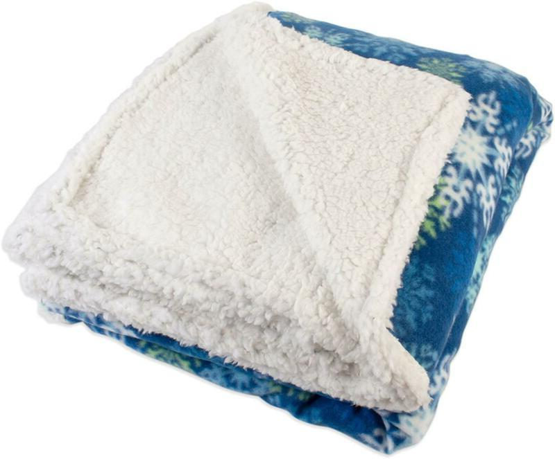 fleece plush sherpa throw blanket 50x60 snowflake