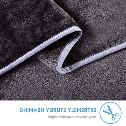 LEISURE TOWN Soft Fleece Luxury Throw Blanket Couch, by 90 Inches,