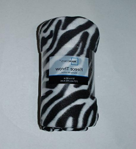 fleece throw zebra