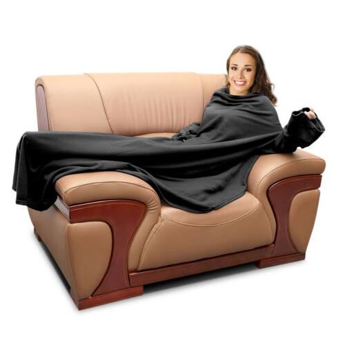 Fleece With Sleeves Micro Plush Sofa Women Men