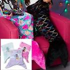 Girls Mermaid Tail Fleece Kids Blanket Snuggle-in Sleeping B