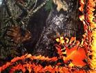Handmade FLEECE TIE-BLANKET Mossy Oak Camo Hunter Orange 60X