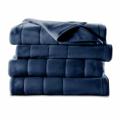 heated electric blanket royal dreams quilted fleece