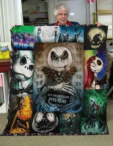 Jack Skellington Nightmare Fleece Blanket 50x60x80 Made In U