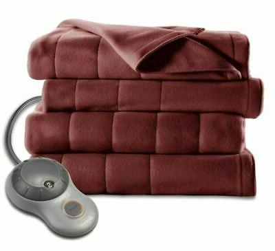 King Size Fleece Soft Quilted Blanket Dual Controllers