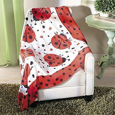 Ladybug Throws Throw Home Kitchen