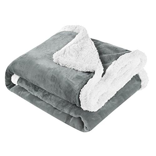 LANGRIA Luxury Flannel Fleece Blanket Extra Soft All for Couch Care