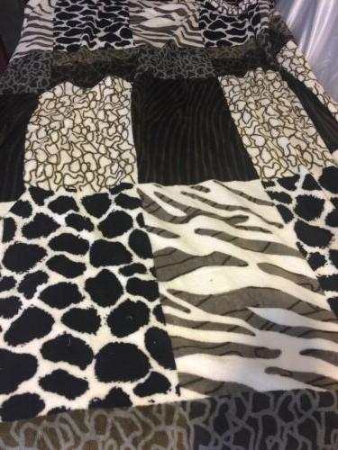 Leopard Striped Animal Print Blanket Twin Bedding Throw Flee