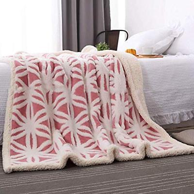 LOMAO Throws Blanket Fuzzy Bed Dual Fit